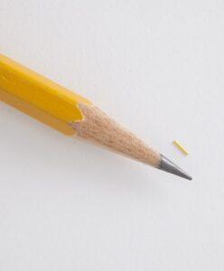 Size comparison of Iluvien to Pencil Tip | Randall Wong, M.D., Retina Specialist, Fairfax, Virginia